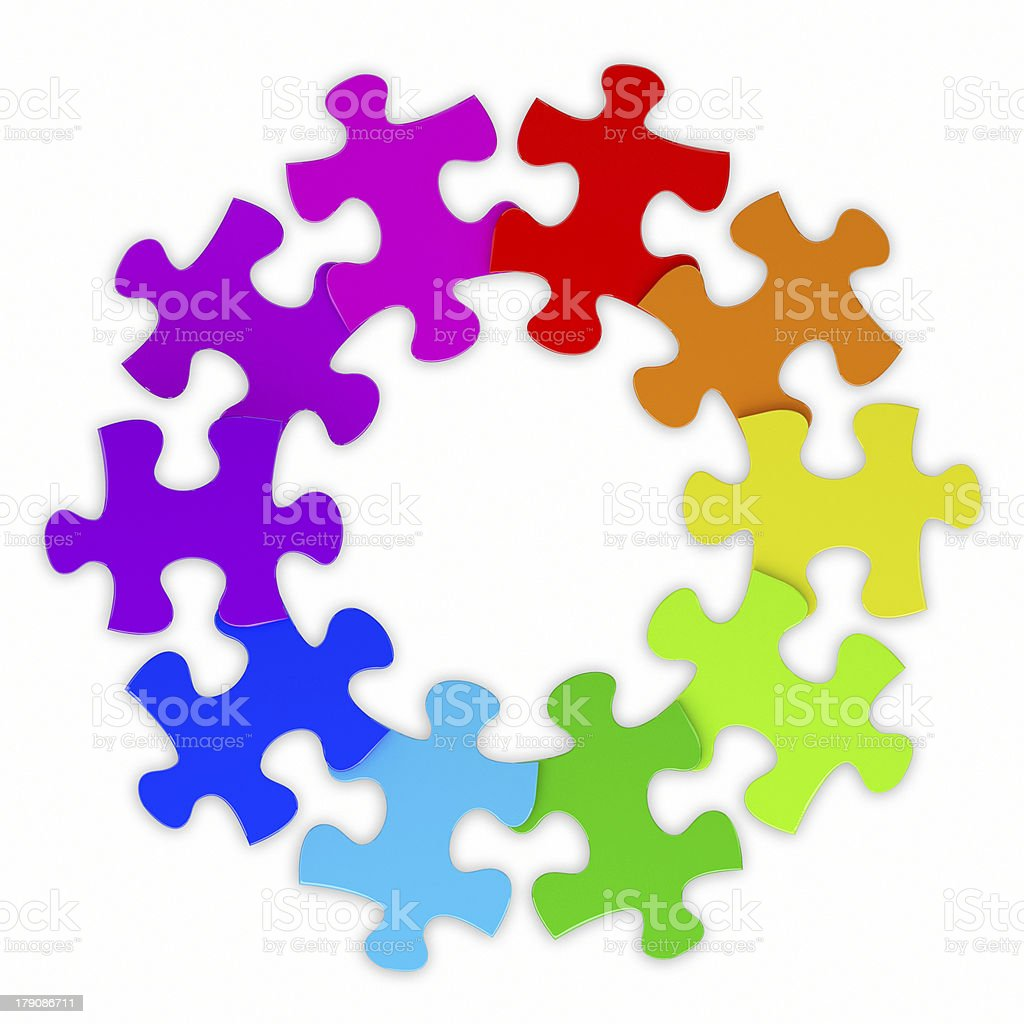colorful puzzle chart wheel royalty-free stock photo