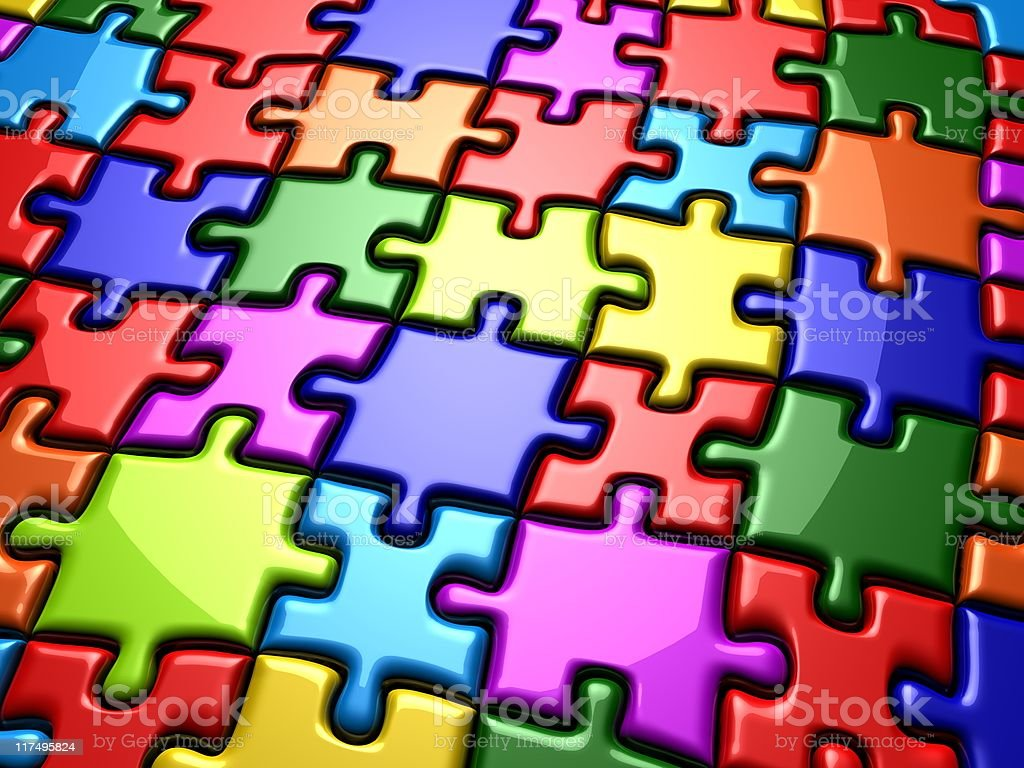 colorful puzzle royalty-free stock photo