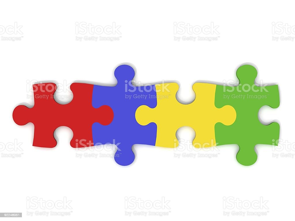 Colorful puzzle pieces royalty-free stock photo