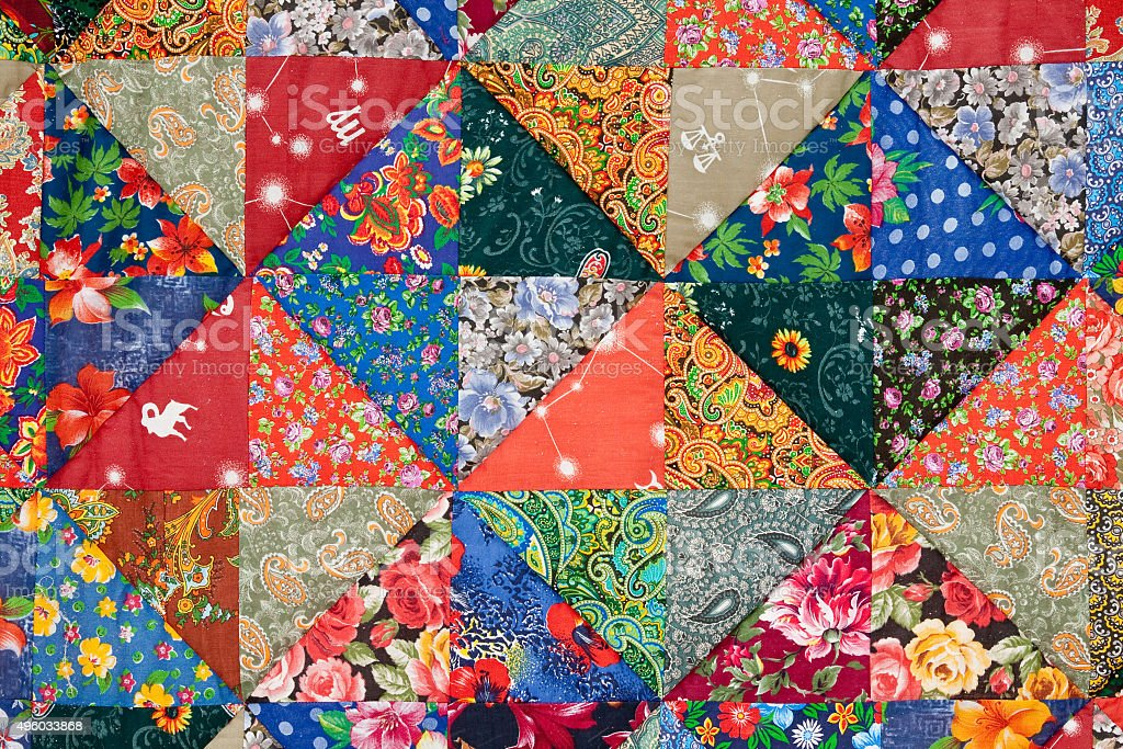 quilt lawn floral crosshatch colorful