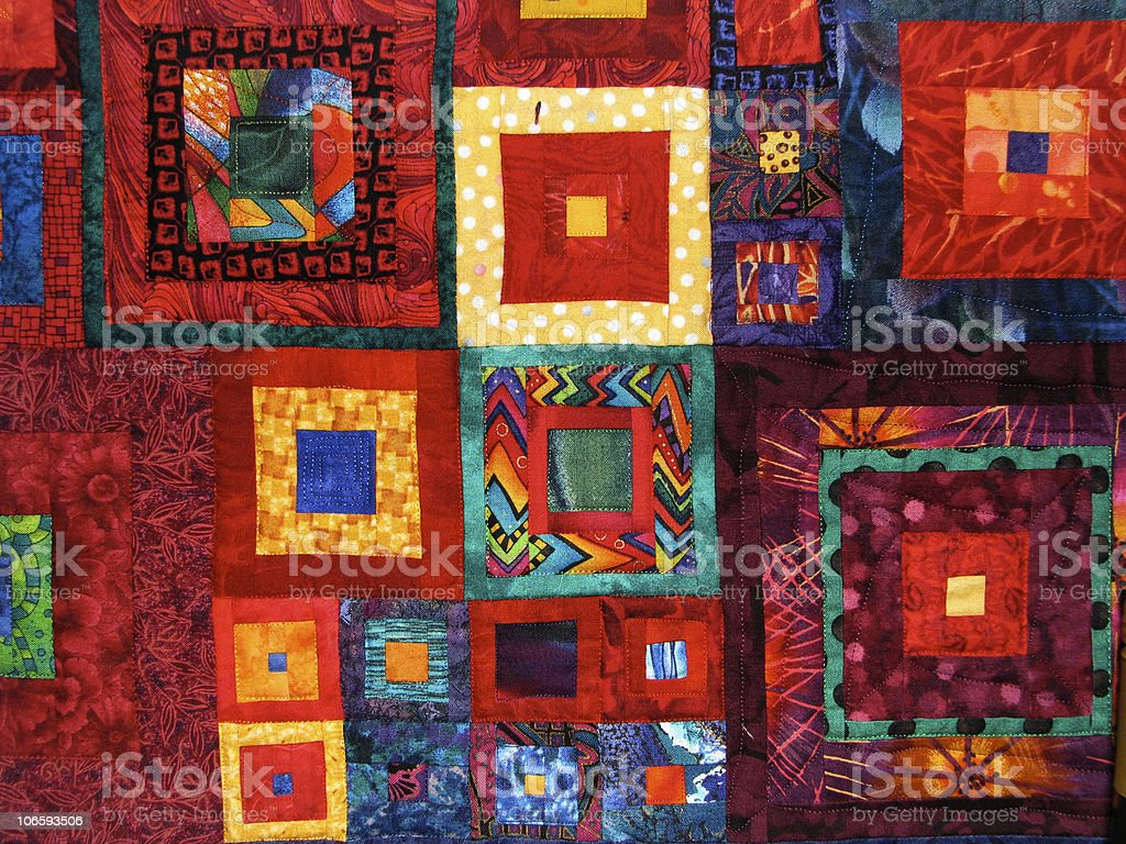 Colorful Quilt royalty-free stock photo