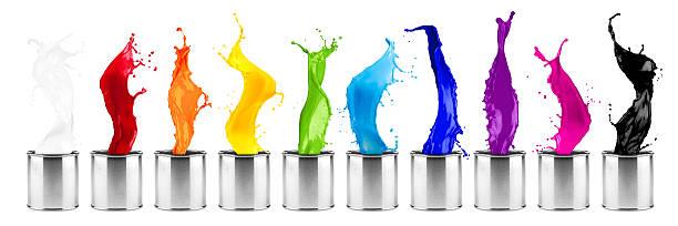 Cores do arco-íris colorido dose respingo linha - foto de acervo