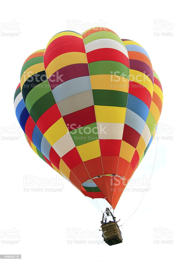 Colorful Rainbow Hot Air Balloon royalty-free stock photo