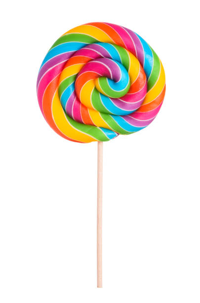 Colorful rainbow lollipop swirl