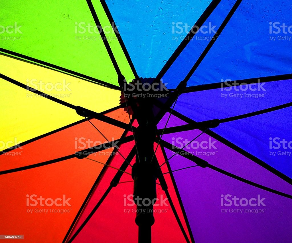 Colorful Rainbow Pride Umbrella royalty-free stock photo