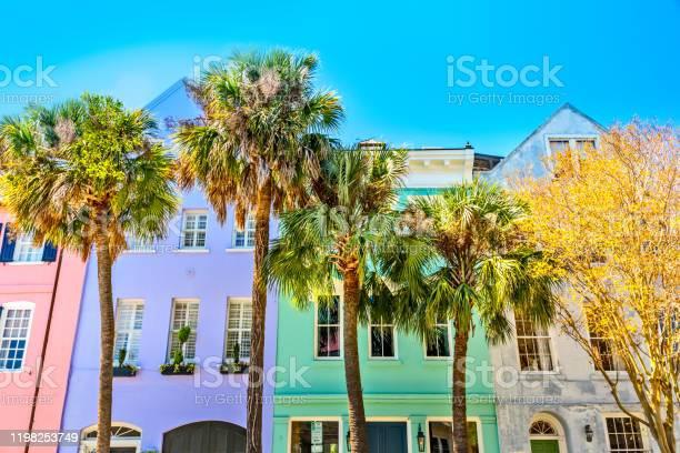 Photo of Colorful Rainbow Row, Charleston SC