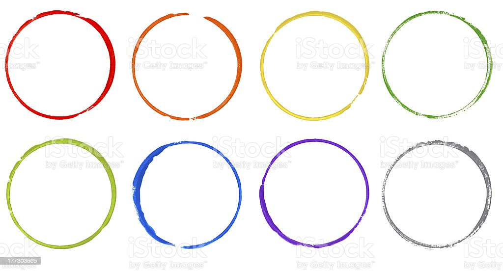 colorful rainbow watercolor circle stock photo