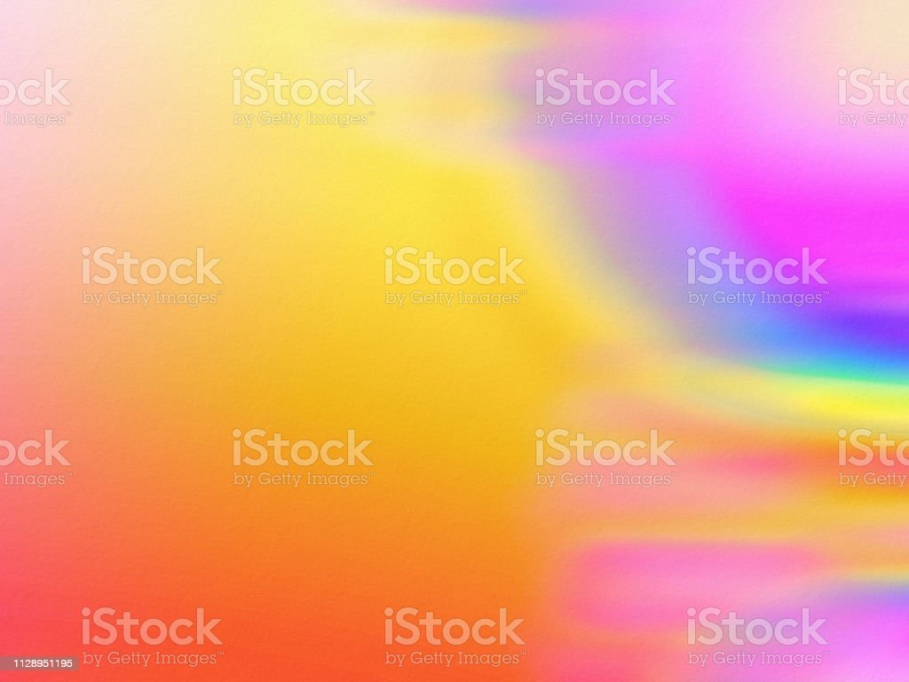 Colorful Rainbow Watercolor Painting Background Art stock photo