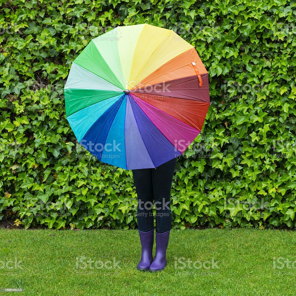 Colorful rainy day royalty-free stock photo