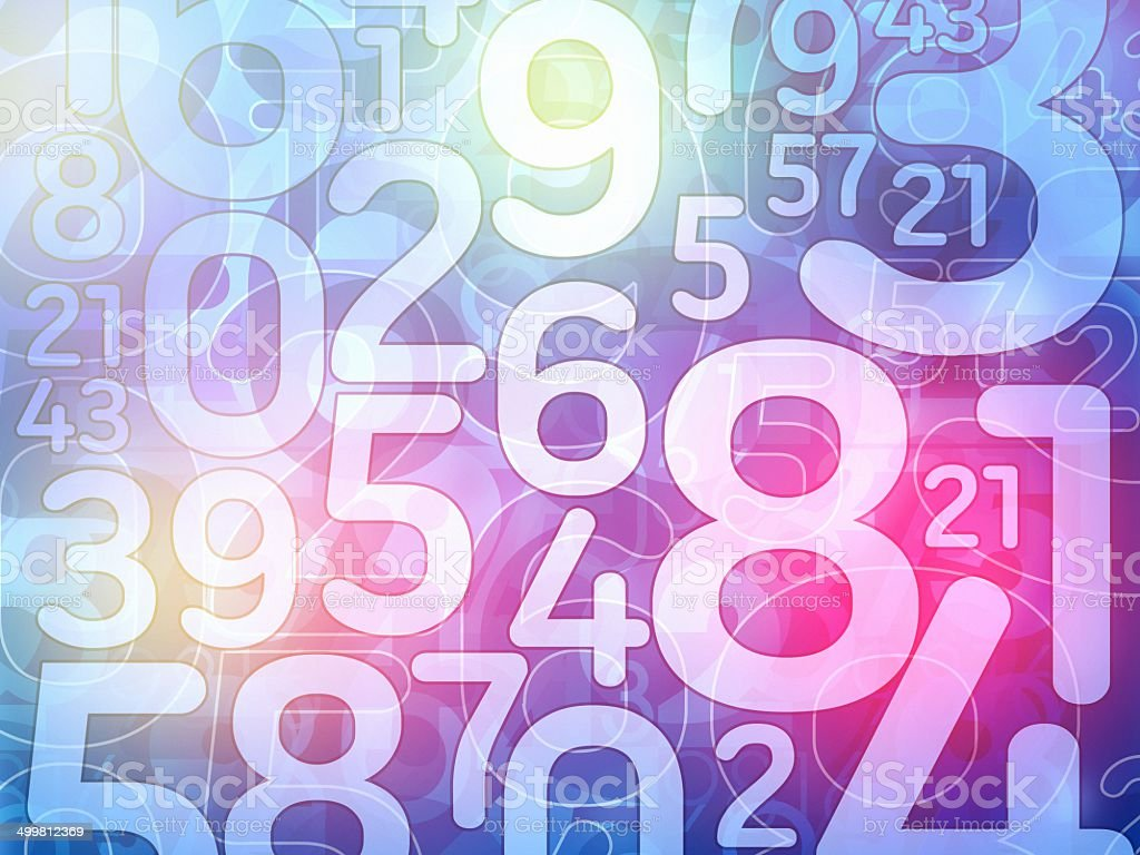 colorful random number background illustration stock photo