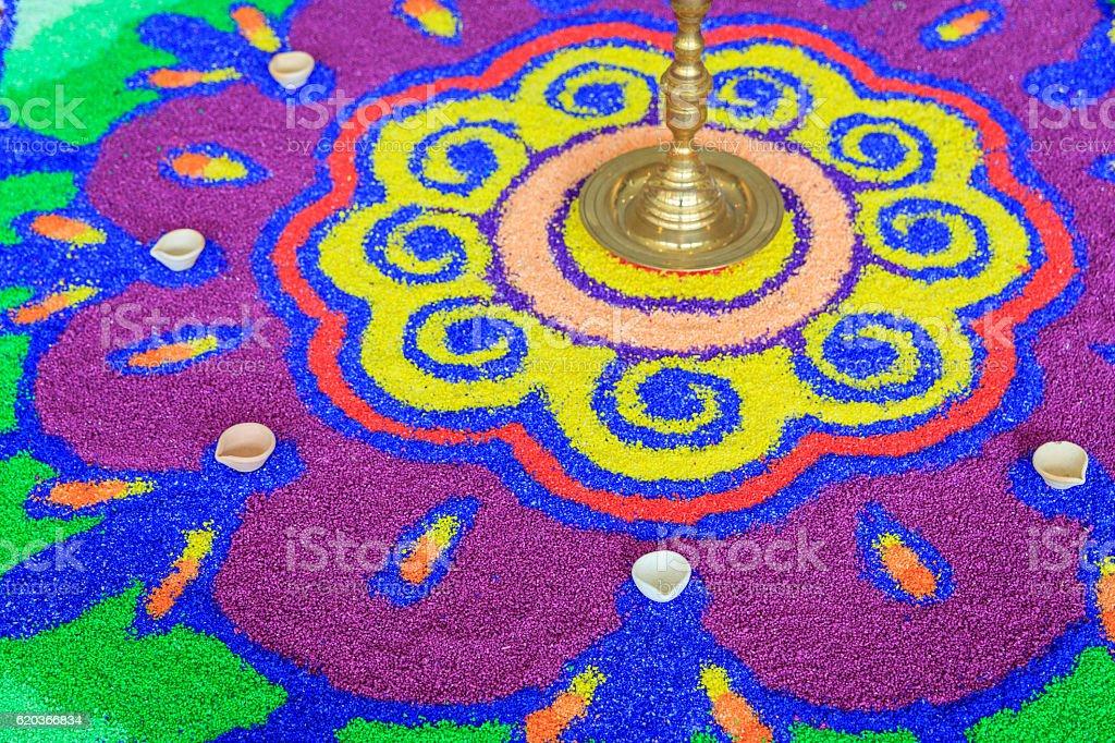 Kolorowe Rangoli zbiór zdjęć royalty-free