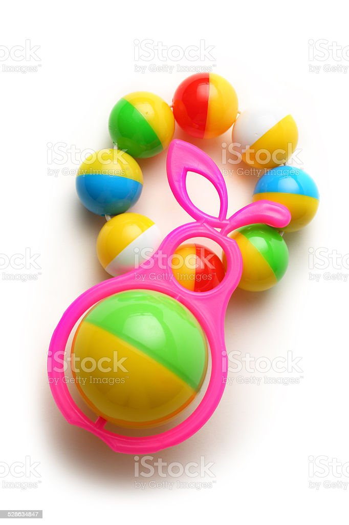 Colorful rattles stock photo