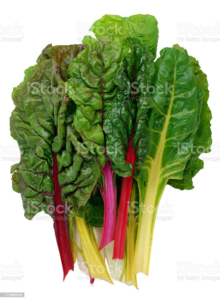 Colorful raw Swiss chard with stems stock photo