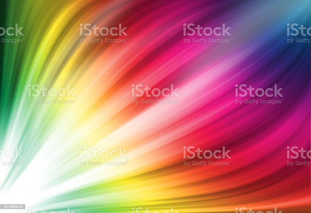 Colorful ray glitter sparkle defocused rays lights bokeh abstract background. stock photo