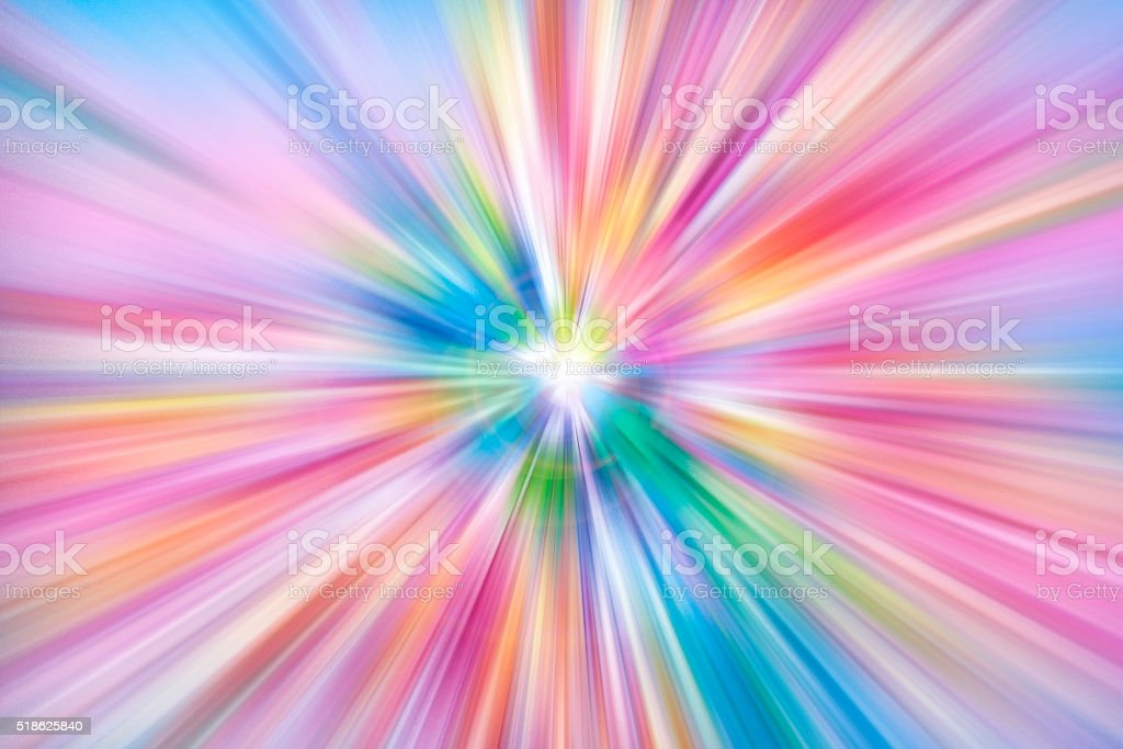 Colorful rays of light explosion stock photo