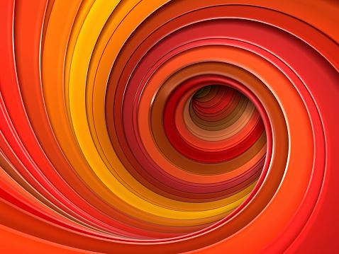 istock Colorful red autumn 3d swirl vortex 524087753