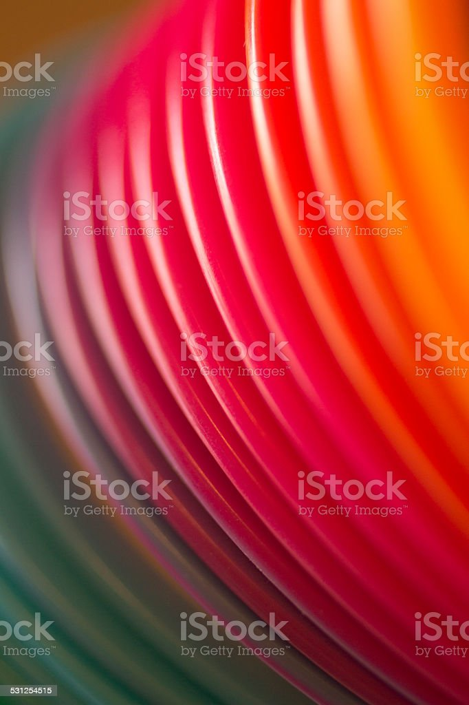 Colorful red color circular art swirl abstract stock photo