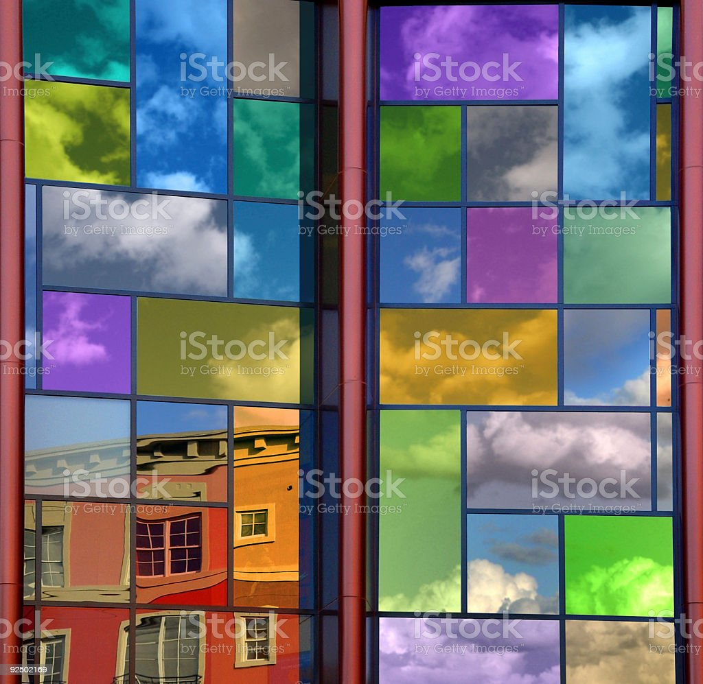 Colorful reflections royalty-free stock photo