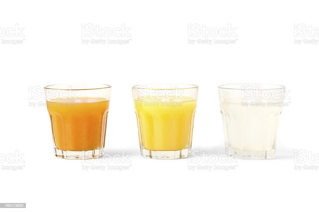Colorful refreshments stock photo