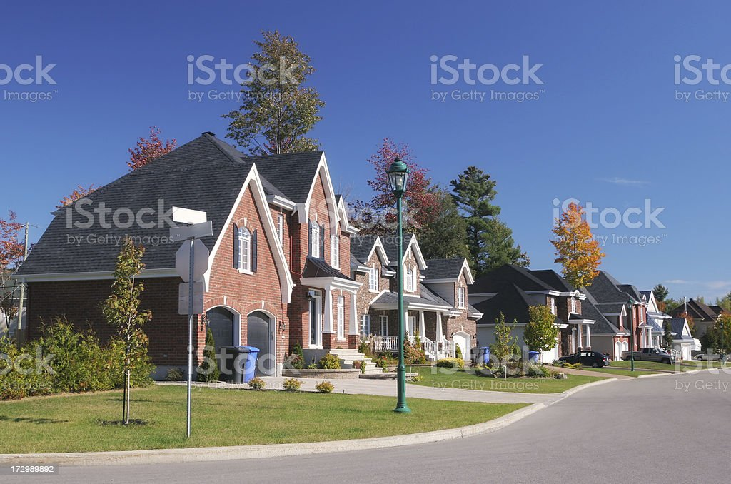 Colorful Residential Neighborhood royalty-free stock photo