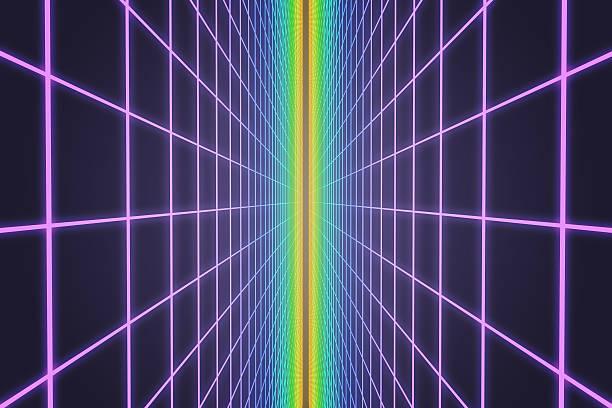 Colorful retro grid background stock photo