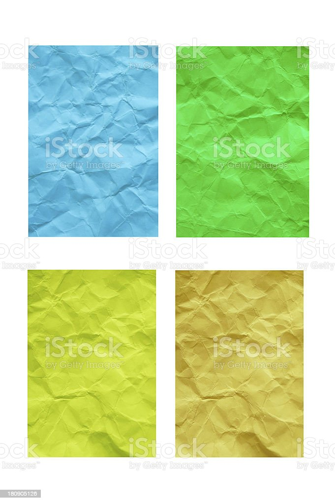 colorful reuse  paper royalty-free stock photo
