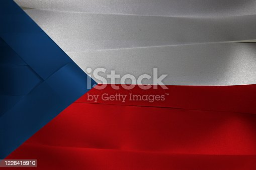 istock Colorful ribbon as Czech Republic national flag. 1226415910