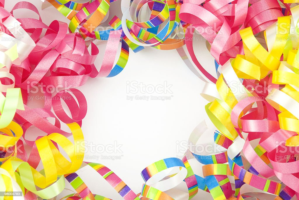 Colorful Ribbon Border With Copy Space royalty-free stock photo