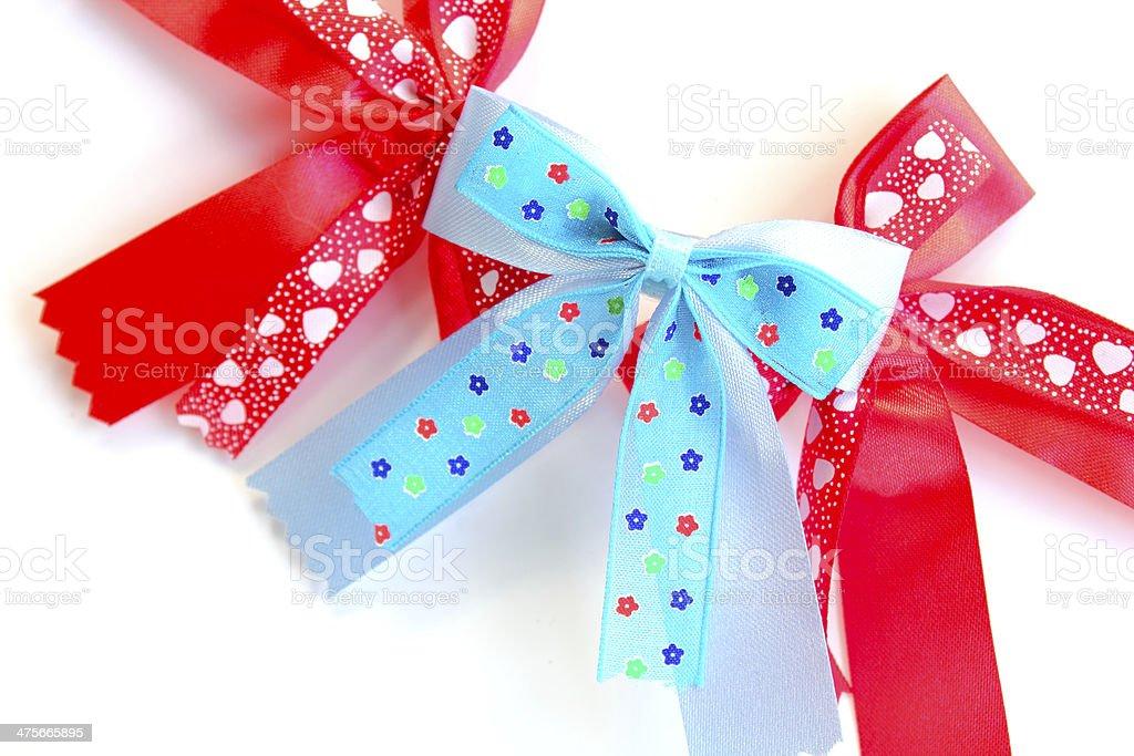 colorful Ribbon on white background stock photo
