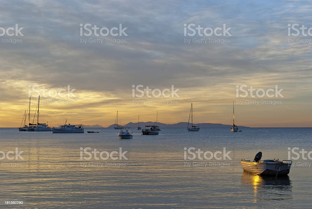 Colorful romantic sunset royalty-free stock photo