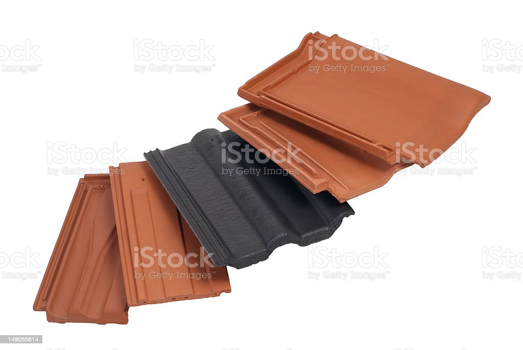 Colorful roof tiles stock photo