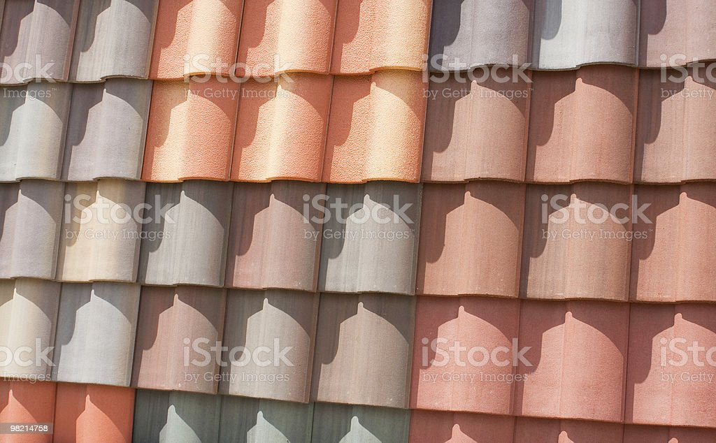 Colorful Roof Tiles royalty-free stock photo