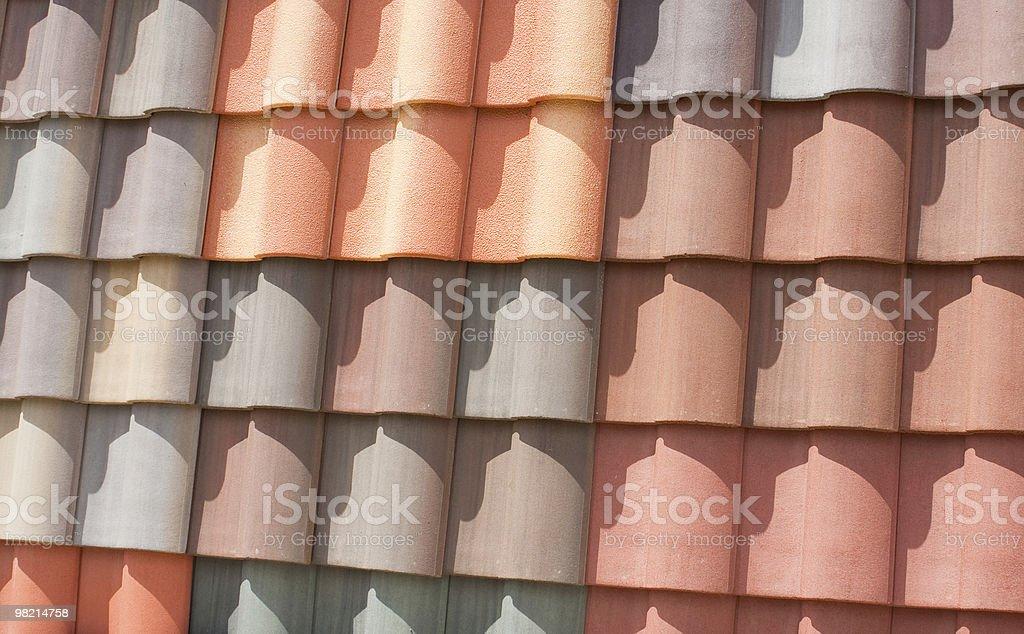 색상화 지붕 타일 royalty-free 스톡 사진