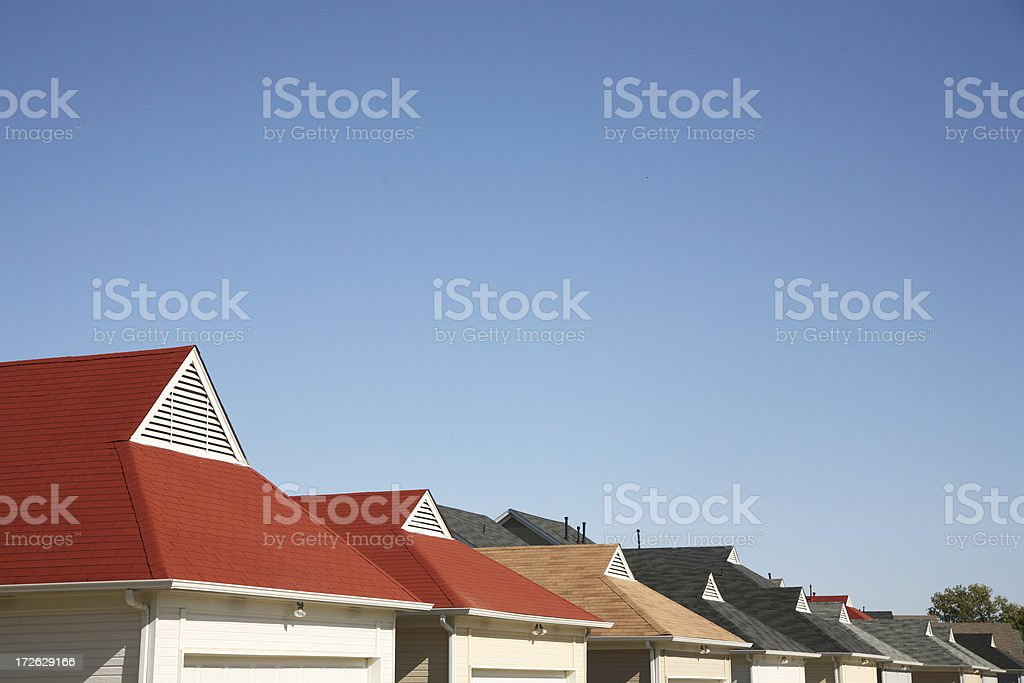 Colorful roofs royalty-free stock photo
