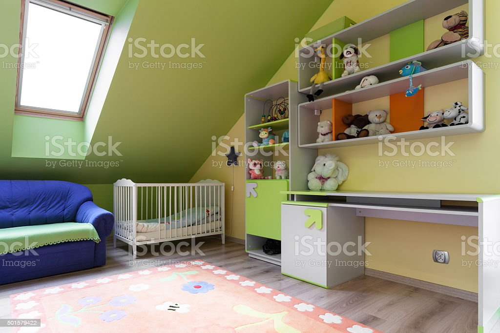 Colorful room for baby stock photo