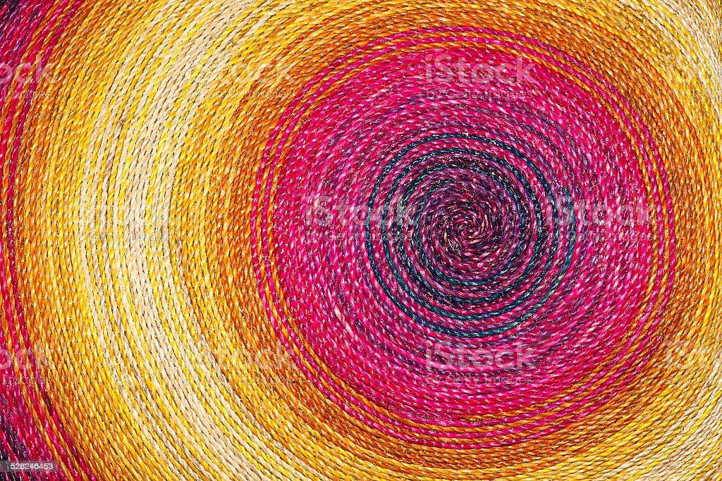 Colorful rope texture for pattern and background stock photo