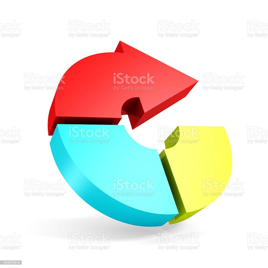 Colorato Tondo Icona Freccia Su Sfondo Bianco Fotografie Stock E