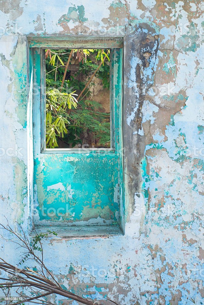 Colorful Ruins in St. Thomas, USVI stock photo