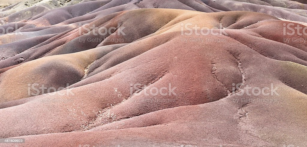 Colorful sands stock photo