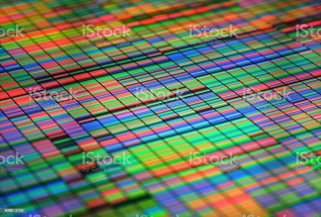 Colorful Sanger Sequencing Background stock photo