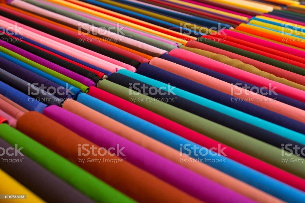 Colorful Sarees Fabric stock photo
