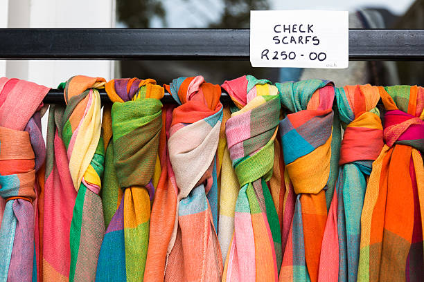 colorful scarves for sale in south africa - carolinemaryan stock pictures, royalty-free photos & images