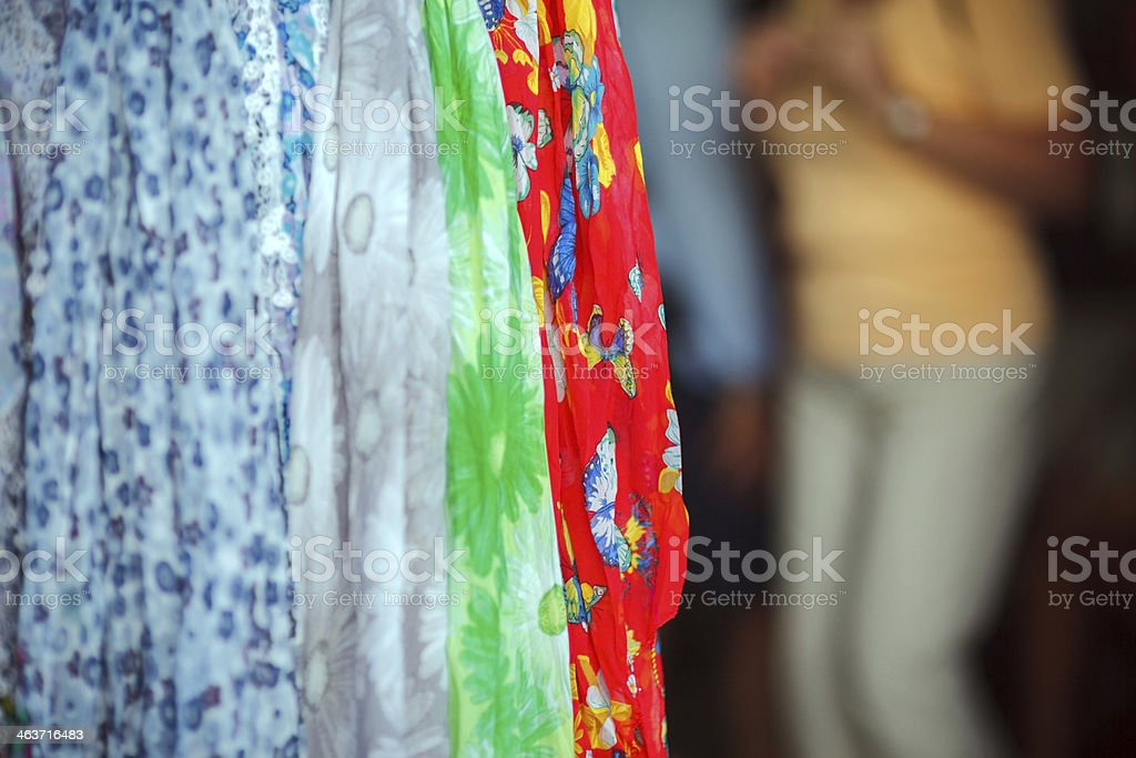 Colorful Scarves royalty-free stock photo