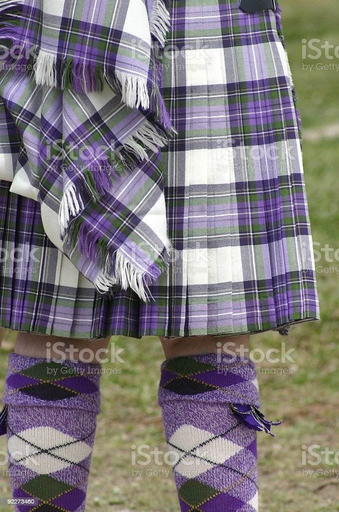 Colorful Scottish Tartan royalty-free stock photo
