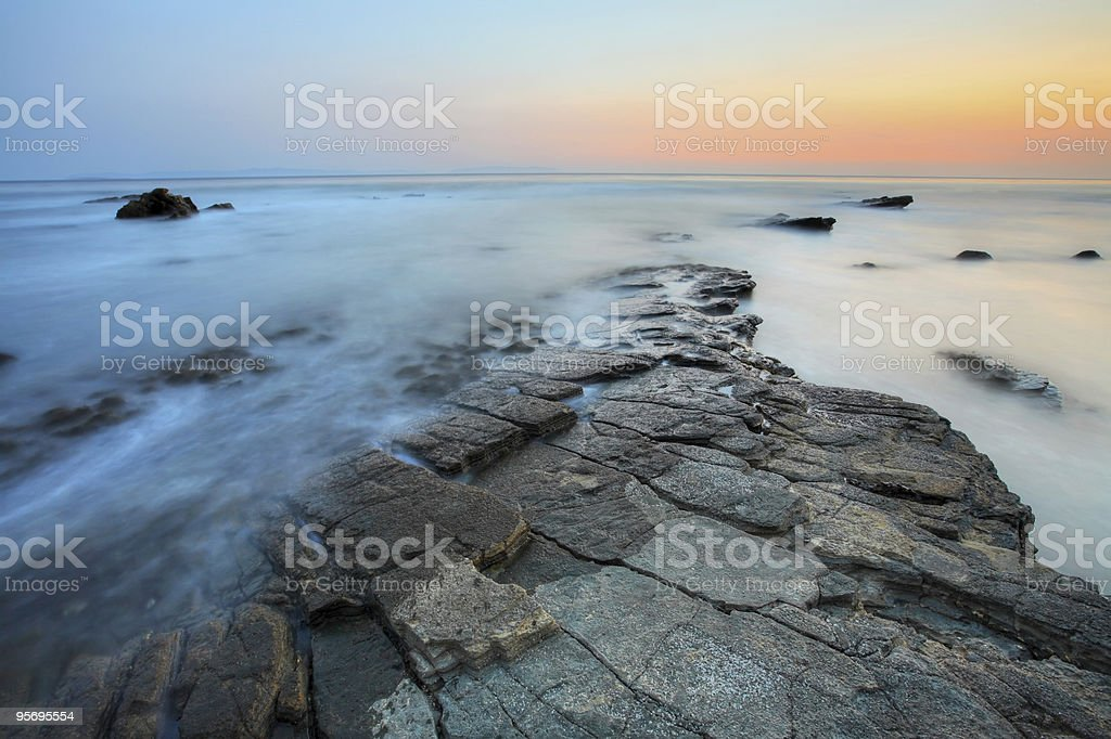 Colorful Seascape royalty-free stock photo