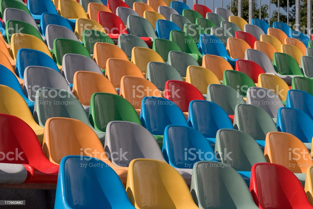Colorful Seating royalty-free stock photo