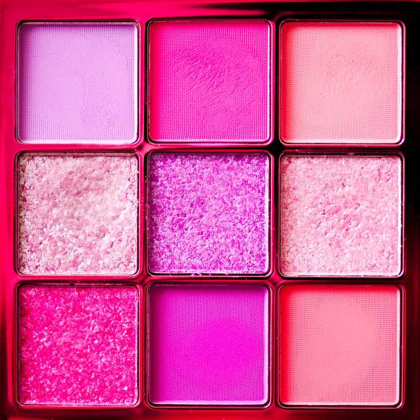 Colorful set of eyeshadows stock photo