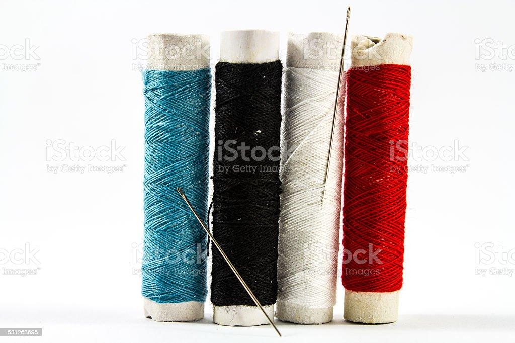 Colorido costura encadeamentos - foto de acervo