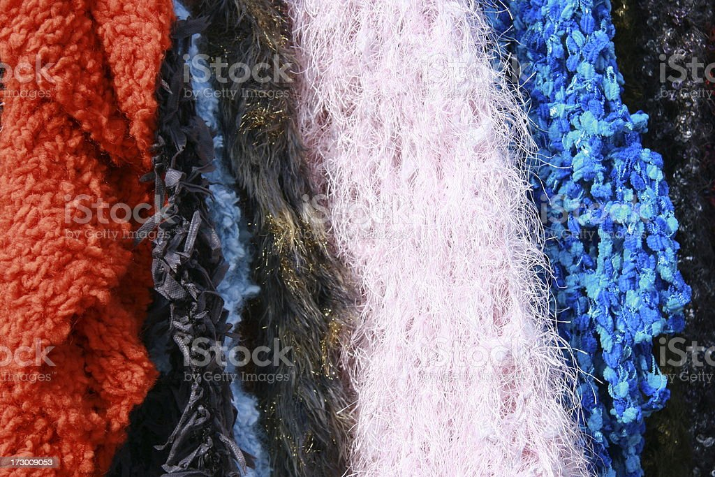 colorful shawls royalty-free stock photo