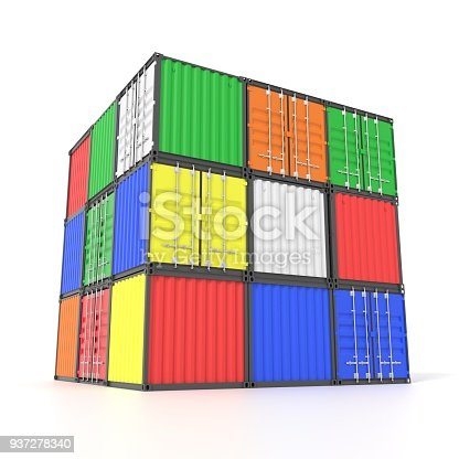 944243850 istock photo Colorful ship cargo containers 937278340